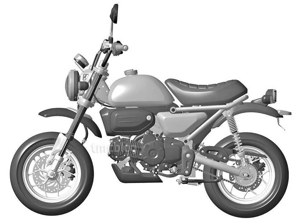 Imagem de patente da provável Honda Monkey