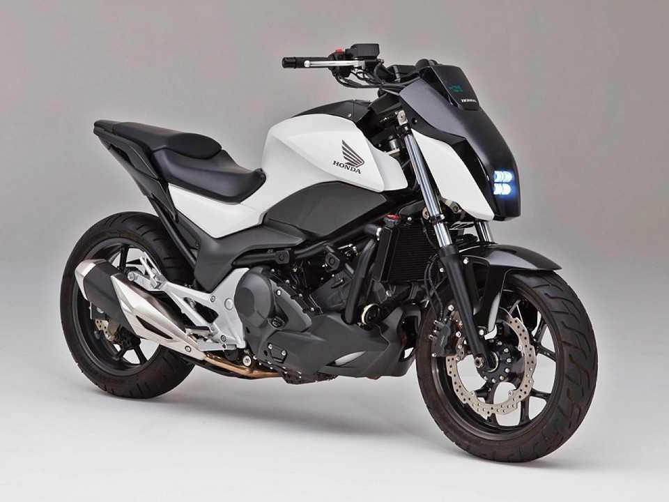 O protótipo equipado com o Honda Riding Assist: moto que não cai