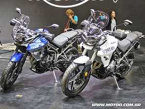 Triumph mostra novas Tiger 800 e Bonneville T100 Black