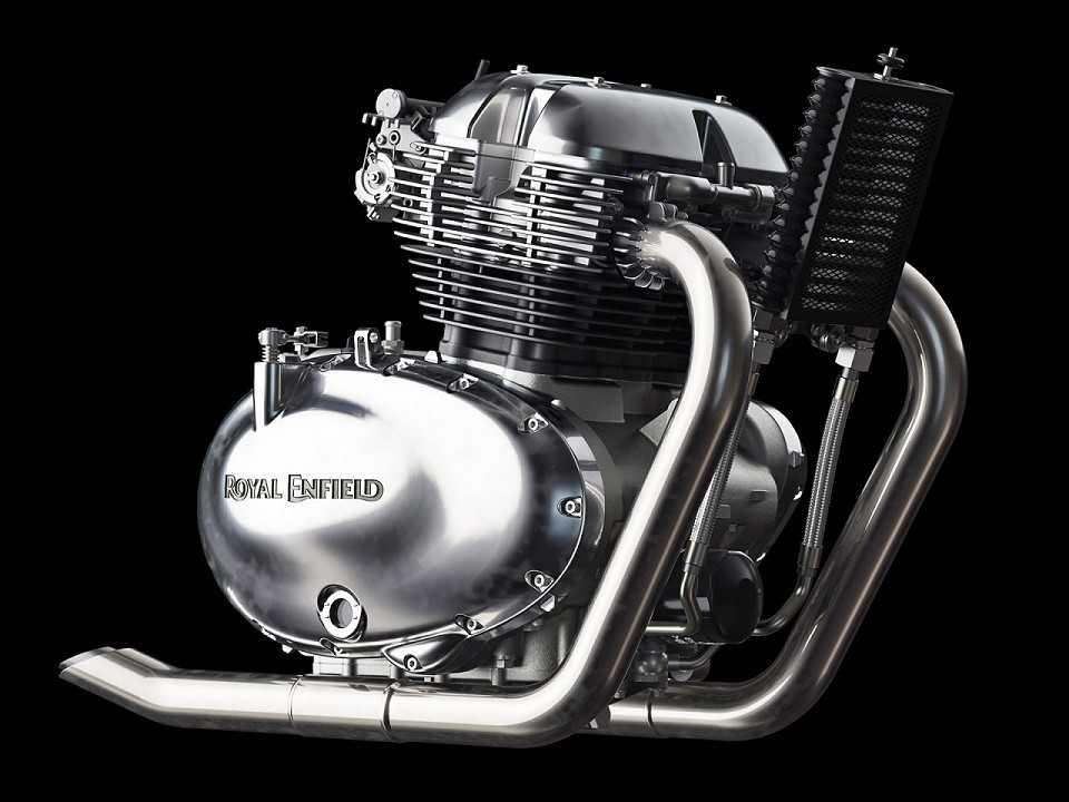 Novo motor de 648cc da Royal Enfield