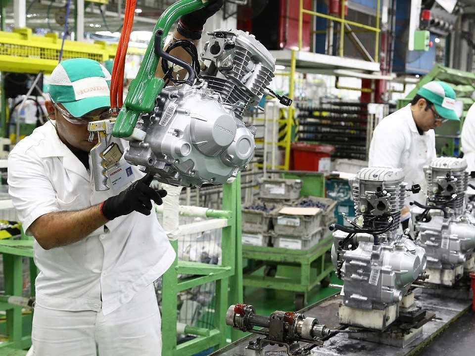 Linha de produção Honda