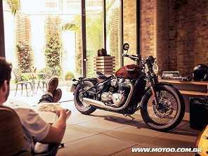 Triumph passa a oferecer nova Bonneville Bobber em pré-venda