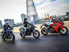 Família CB500 da Honda chega à linha 2018