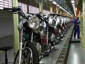 Em julho, produção de motos cresceu em relação a 2019