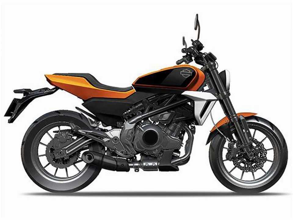 Ilustração da futura Harley-Davidson de cilindrada mais baixa