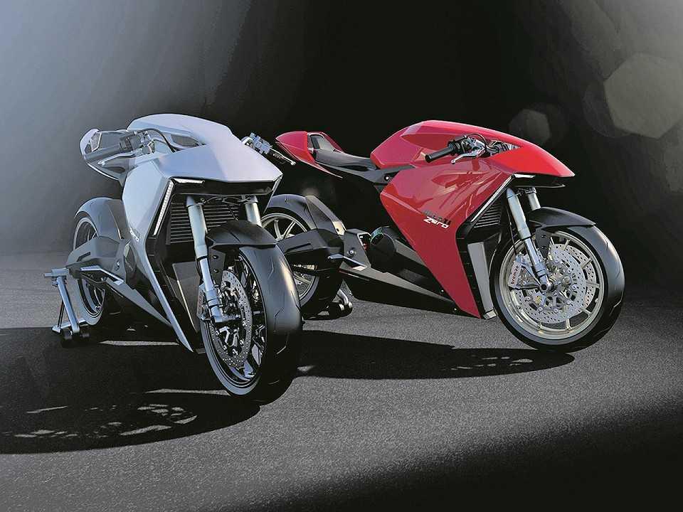 Acima o conceito Ducati Zero