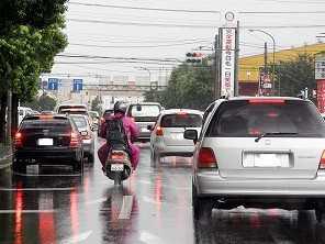 Como andar de moto na chuva