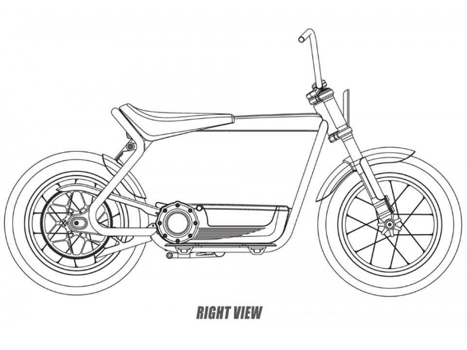 Patente da patinete elétrica da Harley-Davidson