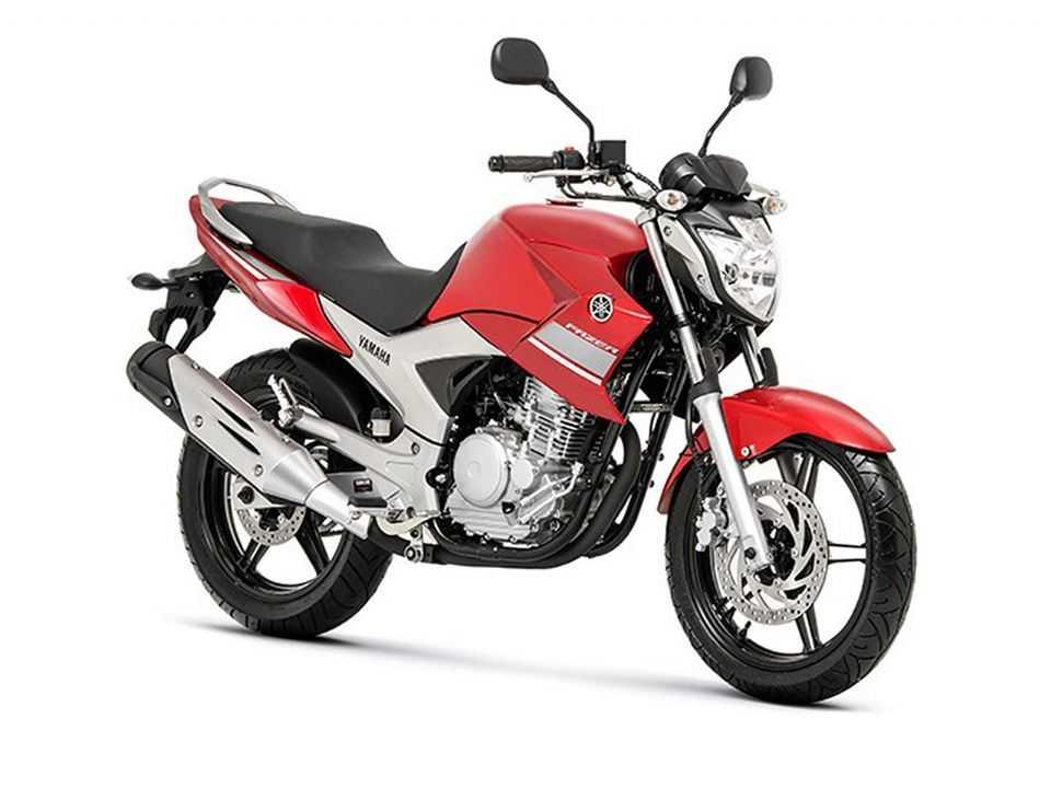 Acima a segunda geração da Yamaha Fazer