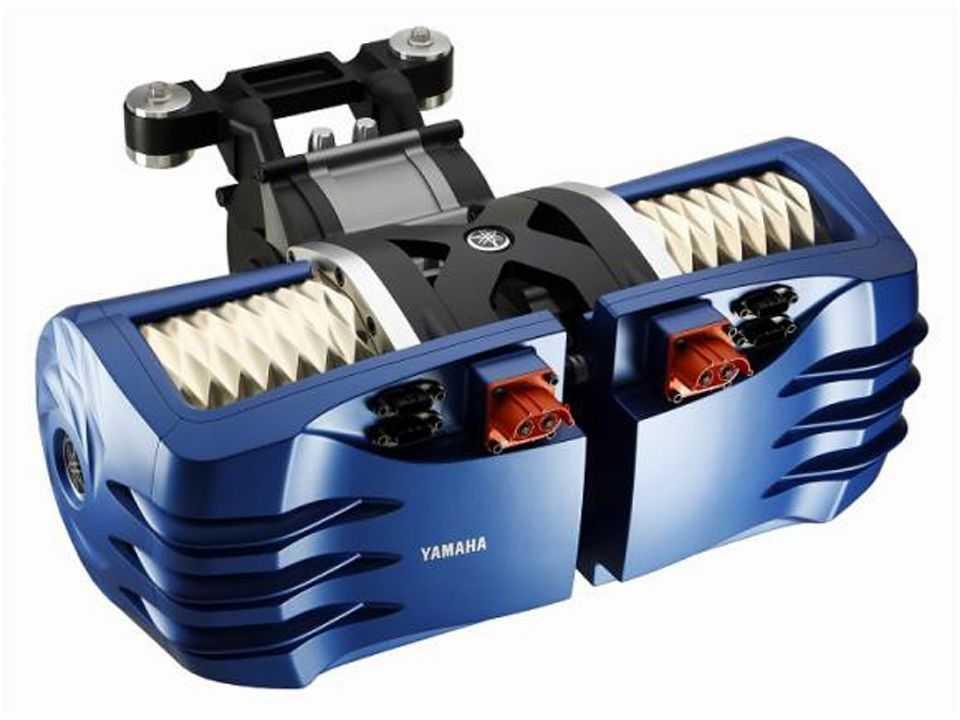 Acima o motor da Yamaha com aplicação para diversos tipos de veículos