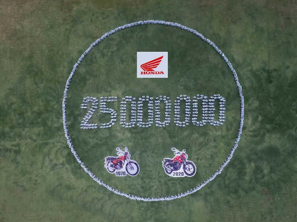 Honda celebra 25 milhões de motos produzidas no Brasil