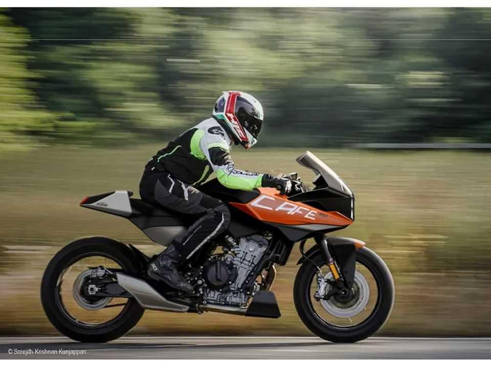 Acima o projeto KTM 790 Cafe Racer Concept