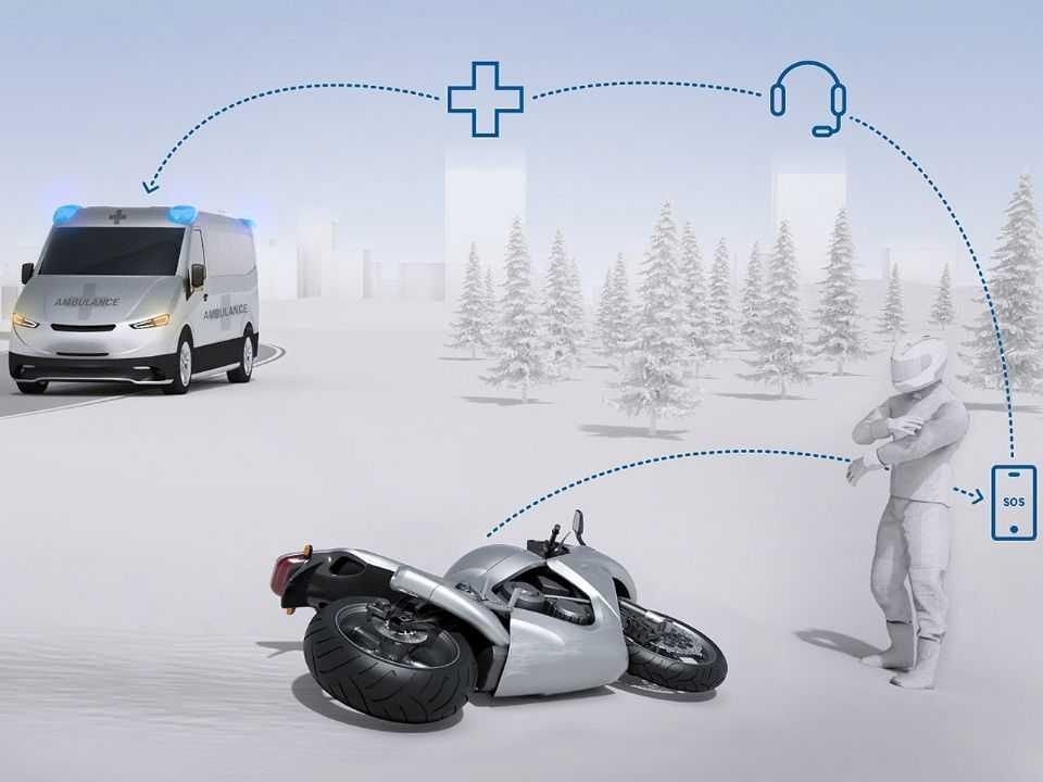 Bosch apresenta Chamada Automática de Emergência para motocicletas