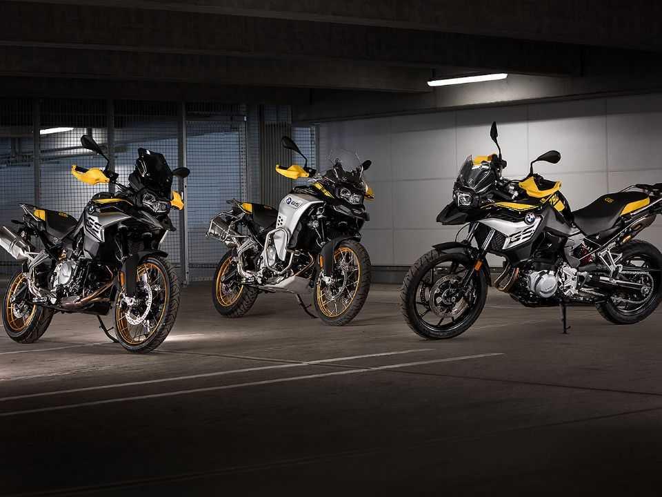 BMW F 750 GS, BMW F 850 GS e a BMW F 850 GS Adventure caracterizadas com a série especial Edition 40 Years GS