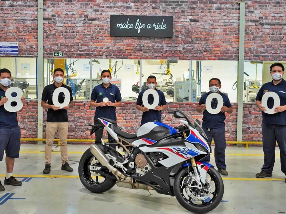 BMW atinge 80 mil motos produzidas no Brasil