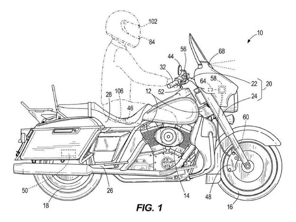 Patente mostra novo controle de cruzeiro da Harley-Davidson