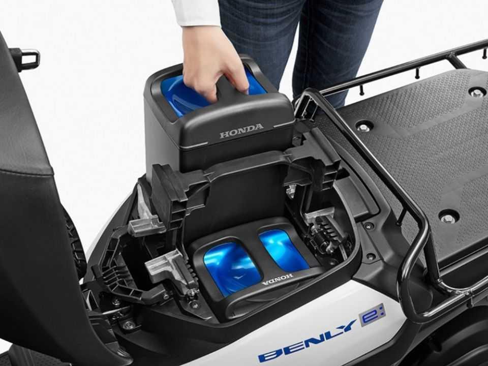 Sistema de baterias removíveis da Hinda Benly-E