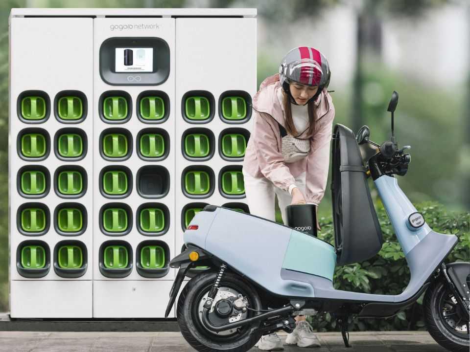 Posto de troca de baterias da Gogoro