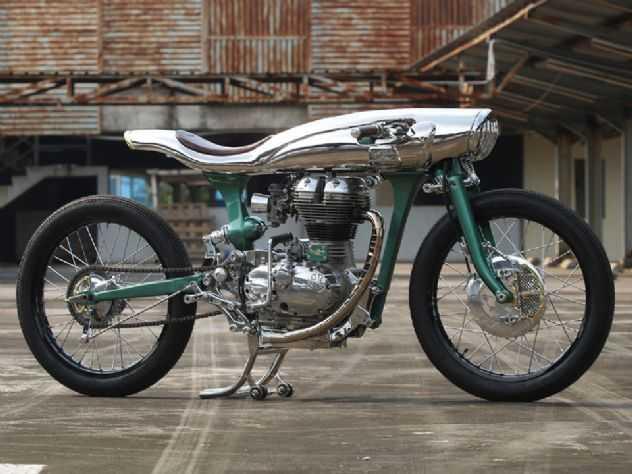 A incrível moto customizada com o motor da Royal Enfield Bullet 500