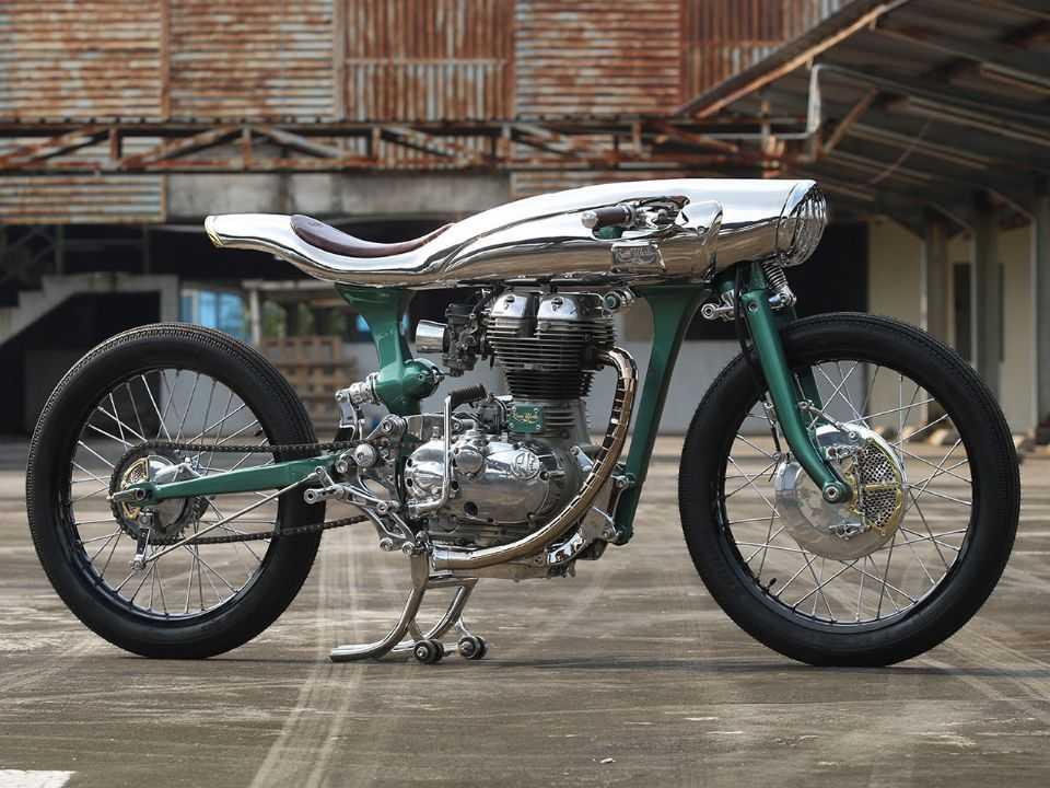 Moto customizada Icarus feita com um motor de Bullet 500