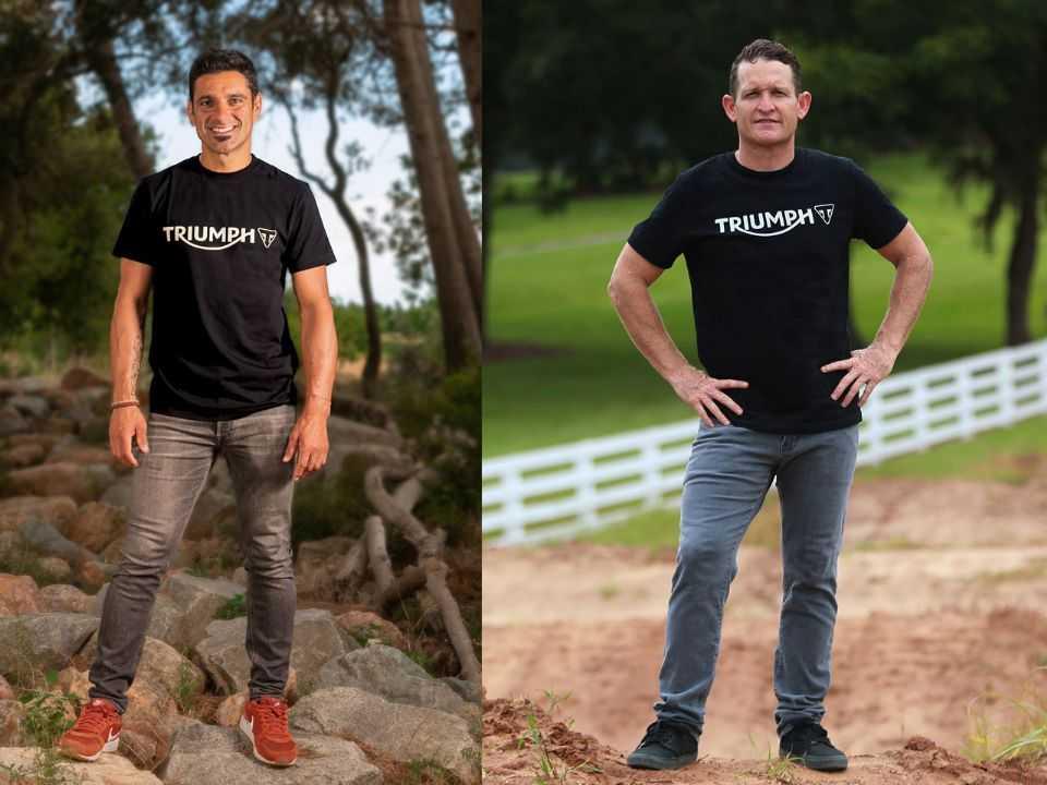 Iván Cervantes (esquerda) e Ricky Carmichael: ex-campeões de Enduro e Motocross no projeto da Triumph