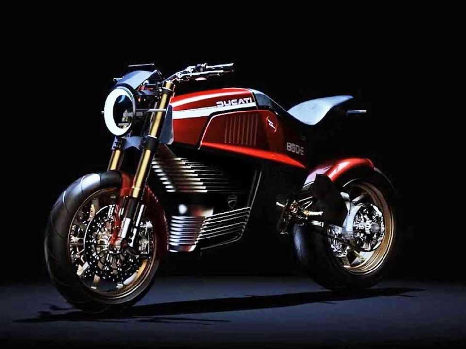 A Ducati 860-E Concept: estilo dos anos 70 com propulsão elétrica